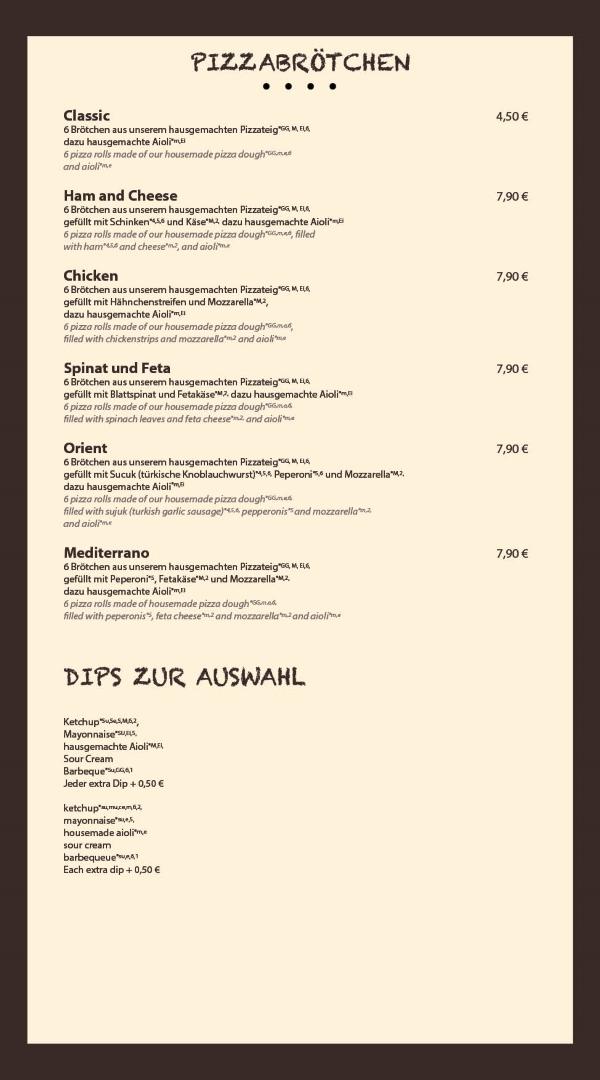 Pizza Brötchen Bensheim Restaurant