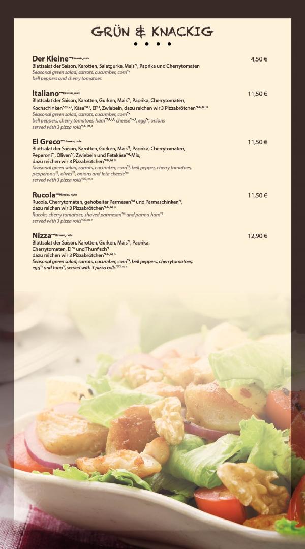 Grüner und knackiger Salat in Bensheim Restaurant