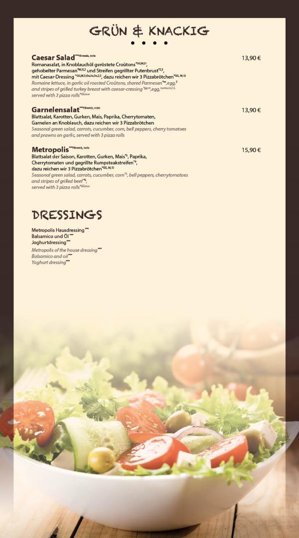 Salat Restaurant Metropolis Bensheim